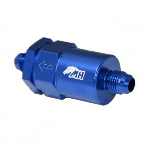 Filtro de Combustível 10AN / AN10 Macho Cônico - 30 Microns - Elemento de Inox - Azul