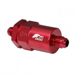 Filtro de Combustível 6AN / AN6 Macho Cônico - 150 Microns - Elemento de Inox - Vermelho