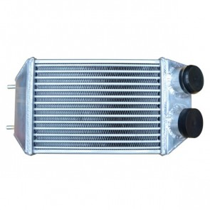 "Intercooler Racing 2-1/4"" Tubo Extra Fino (Tube and Fin) Retangular Unilateral Pequeno - CORE 3-3/4"" Maior Fluxo"
