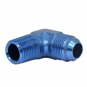 """Adaptador Macho NPT 1/2"""" para Macho Cônico 10AN / AN10 em Curva 90° Graus - Azul"""