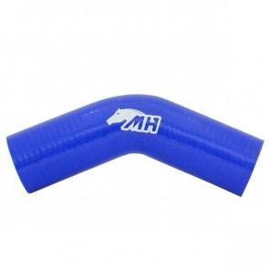 "Mangote em Silicone Curva 45º graus 2"" polegadas (51mm) x 125mm - Azul"