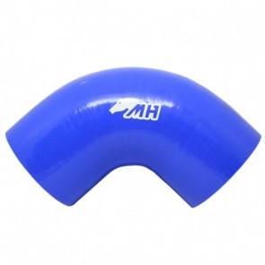 "Mangote em Silicone Curva 90° graus 4"" polegadas (102mm) x 152mm - Azul"