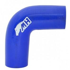 "Mangote em Silicone Curva 90º graus 2"" polegadas (51mm) x 120mm - Azul"