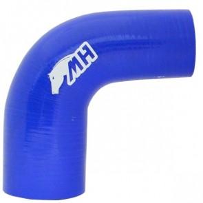 """Mangote em Silicone Redutor Curva 90° graus 2-1/2"""" para 2"""" polegadas (63mm para 51mm) x 125mm - Azul"""