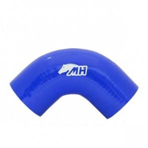 "Mangote em Silicone Curva 90º graus 3"" polegadas (76mm) x 125mm - Azul"