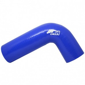 "Mangote em Silicone Tipo L Curva 90º graus 3"" polegadas (76mm) x 250mm por 150mm - Azul"
