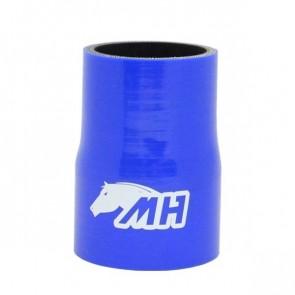 """Mangote em Silicone Redutor Reto 2-1/2"""" para 2-1/4"""" polegadas (63mm para 57mm) x 100mm - Azul"""