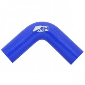 "Mangote em Silicone Curva 90º graus 2"" polegadas (51mm) x 160mm - Azul"