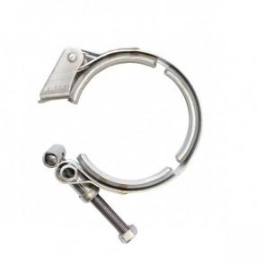 """Abraçadeira 100% Inox tipo V-Band / V-Clamp de Saque Rápido 2-1/2"""" polegadas"""