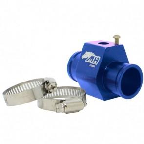 """Adaptador Fêmea NPT 1/8"""" para Sensor de Água com Entradas e Saídas 28mm - Azul"""