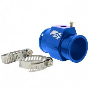 """Adaptador Fêmea NPT 1/8"""" para Sensor de Água com Entradas e Saídas 40mm - Azul"""
