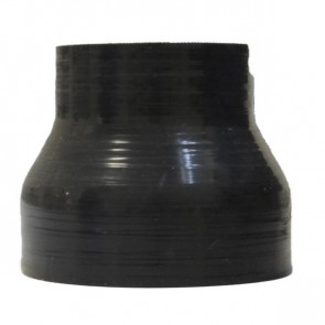 "Mangote Preto em Silicone Redutor Reto 3"" (76mm) para 2"" (51mm) * 76mm - Epman"