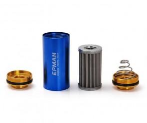 Filtro de Combustível Billet Esportivo 10AN 100 Microns - Azul