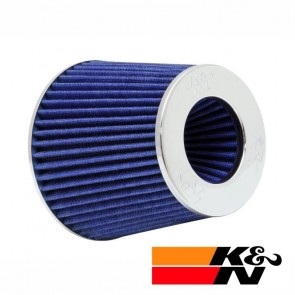 Filtro de Ar Esportivo Cônico Ajustável Duplo Fluxo Azul K&N RG1001-BL