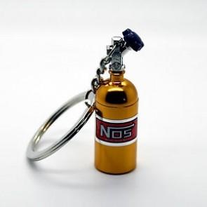Chaveiro Garrafa Nitro NOS (Nitrous Oxide Systems) - Dourado