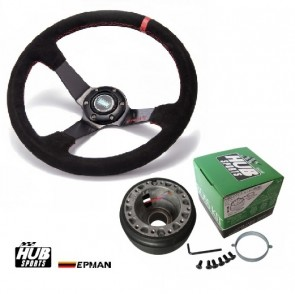 Kit Volante Esportivo Epman + Cubo Hub para Golf MK3