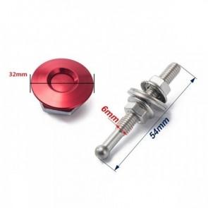 Trava Tipo Pin Hood Haste Pequena (54mm) Trava Grande (32mm) Esportiva Universal Epman - Vermelho