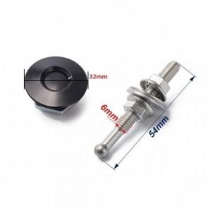 Trava Tipo Pin Hood Haste Pequena (54mm) Trava Grande (32mm) Esportiva Universal Epman - Preto