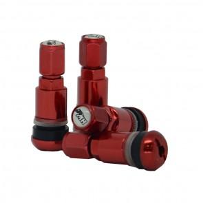 Válvula para Roda Esportiva em Alumínio (pneu) - Vermelho